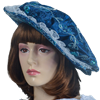 Ladies Renaissance Floppy Hat - Blue with Feather