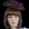 Antoinette Renaissance Hat - Burgundy and Gold