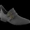 Mens Double Buckle Pointed Renaissance Shoe