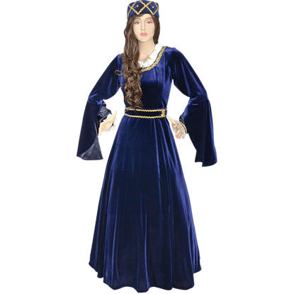 Royal Velvet Drape Sleeve Gown