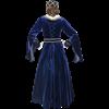 Royal Velvet Drape Sleeve Gown