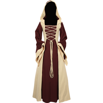 Ladies Hooded Medieval Dress