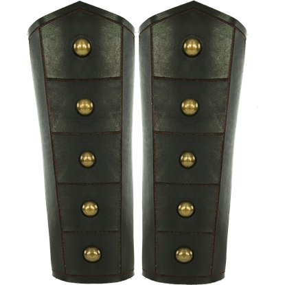 Brass Riveted Warrior Bracers