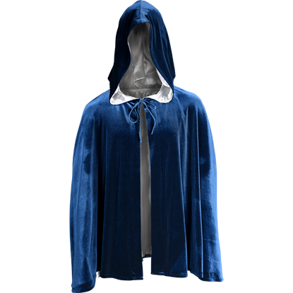 Short Velvet Cloak with Hood