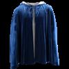 Short Velvet Cloak with Hood