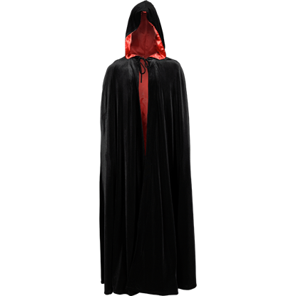 Long Velvet Cloak with Hood