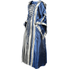 Hooded Renaissance Sorceress Dress - Royal Blue