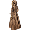 Hooded Renaissance Sorceress Dress - Bronze