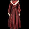 Hooded Renaissance Sorceress Dress - Burgundy