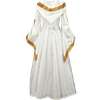 Hooded Renaissance Sorceress Dress - White