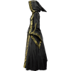 Alluring Damsel Dress with Hood - Black with Gold