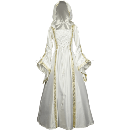 Hooded Medieval Wedding Dress