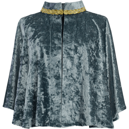 Womens Crushed Velvet Short Cloak