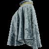 Womens Crushed Velvet Short Cloak