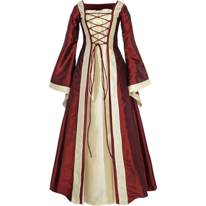 Renaissance Sorceress Dress - Burgundy