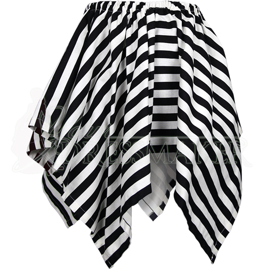 Striped Short Handkerchief Skirt