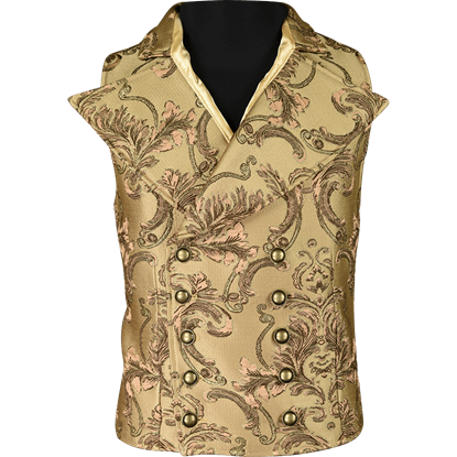 Gentlemens Brown Brocade Vest