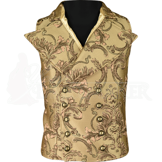 Gentlemens Brown Brocade Vest