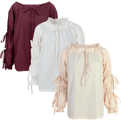 Juliet Tied Sleeve Cotton Blouse