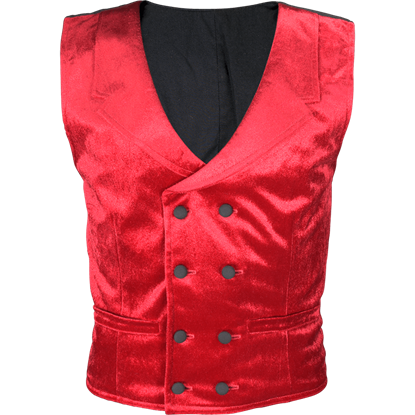 Gentlemens Velvet Double Breasted Vest