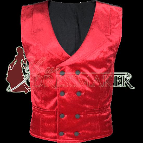 Gentlemens Velvet Double Breasted Vest