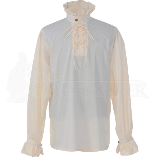 High Collared Victorian Shirt