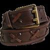 Crossed Leather Belt
