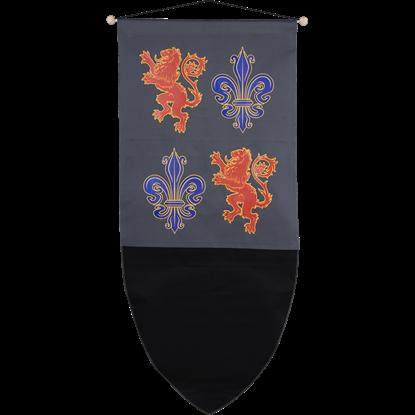 Black Prince Crest Banner