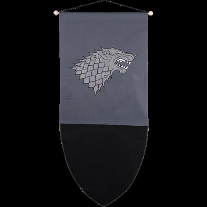 Direwolf Medieval Banner