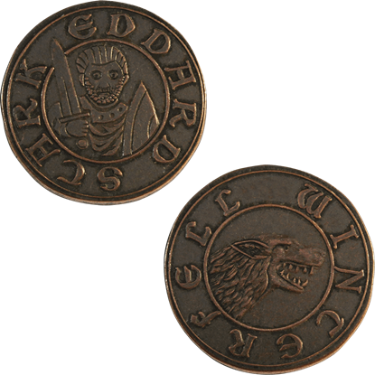 Copper Half-Groat of Eddard Stark
