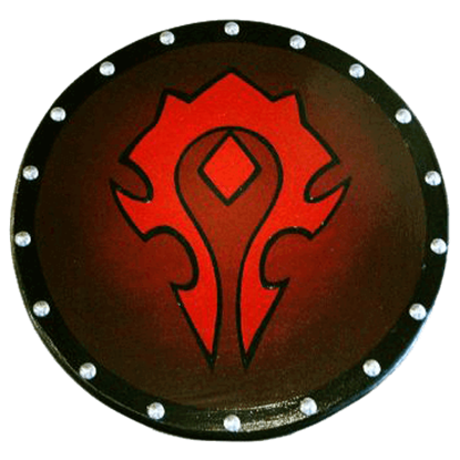 Wooden World of Warcraft Horde Shield
