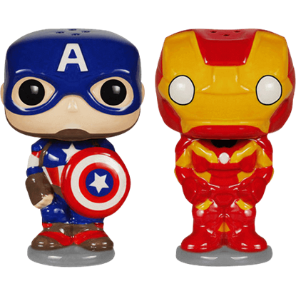 Captain America and Iron Man POP Salt and Pepper Shakers