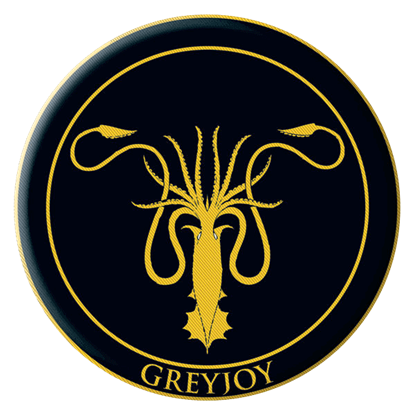Game Of Thrones Greyjoy Embroidered Patch