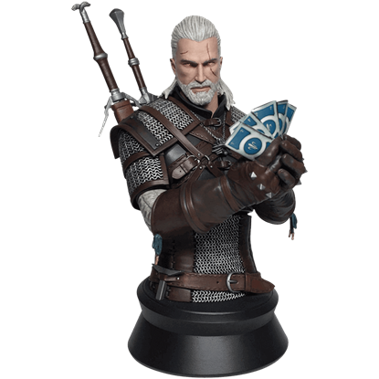 The Witcher 3 Wild Hunt Geralt Playing Gwent Bust