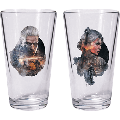 The Witcher 3 Geralt Ciri Pint Glass Set