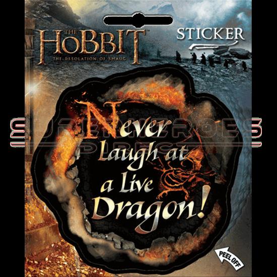 Never Laugh at a Live Dragon Sticker