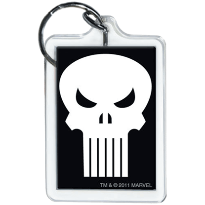Punisher Emblem Keychain