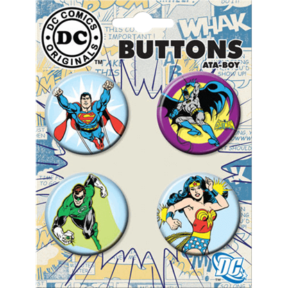 DC Comics Originals Justice League Button Set