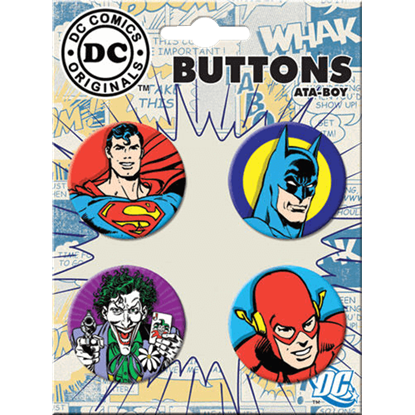 DC Comics Originals Heroes vs. the Joker Button Set