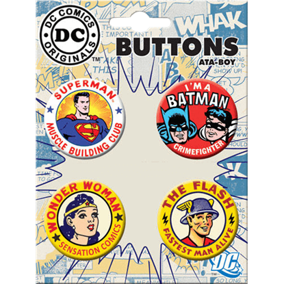 DC Comics 75th Anniversary Button Set