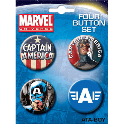 Captain America Button Set