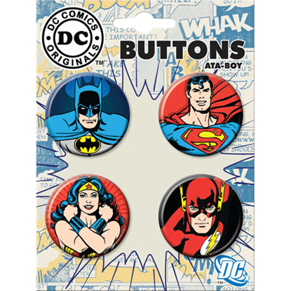 Classic Justice League Button Set