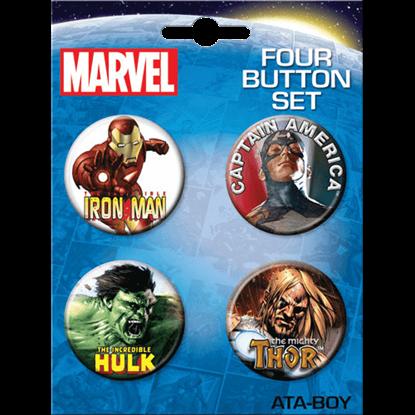 Classic Marvel Avengers Button Set