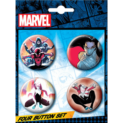 Marvel Spider-Verse Button Set