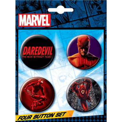 Daredevil Man without Fear Button Set