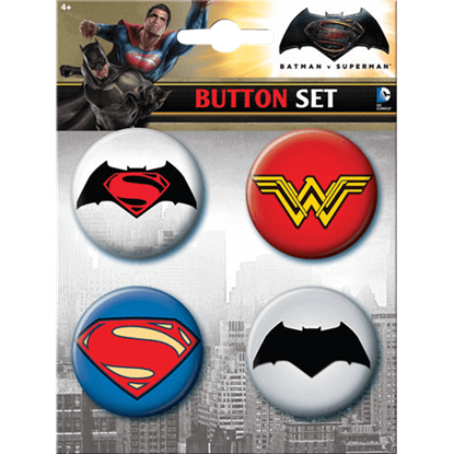 Dawn of Justice Logo Button Set