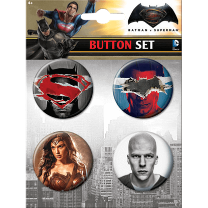 Dawn of Justice Trinity vs. Lex Luthor Button Set