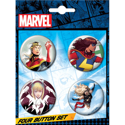 Ms. Marvel Spider Gwen Team-up Button Set