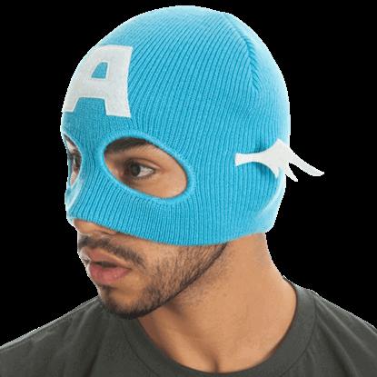 Captain America Half-Mask Beanie