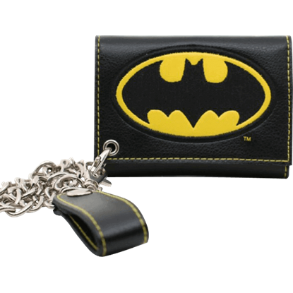 Batman Logo Chain Wallet